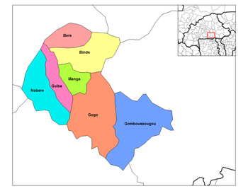 Gogo Department location in the province