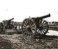 Zsákmányolt 15-ös tarack a magyar csapatok bevonulása idején. Fortepan 76997.jpg