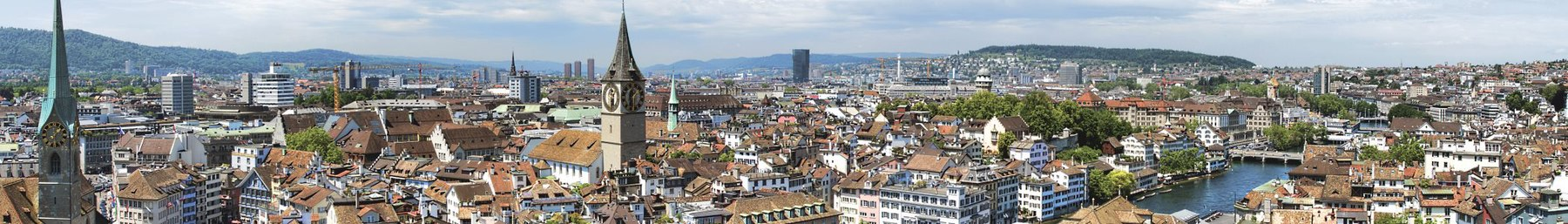 View across Zurich from Grossmünster