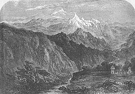 Afbeelding van de bergpas in de Illustrated London News, 1856
