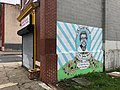 """""""In Loving Memory Ms. Justine Bonner"""" mural (2016; Julie Ann Horton, artist), 1200 Mosher Street, Baltimore, MD 21217 (41500070334).jpg"""