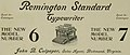 """Remington Standard Typewriter"" ""NEW MODEL NUMBER 6"" ""NEW MODEL NUMBER 7"" ad detail, Virginia Tech Bugle 1897 (page 197 crop).jpg"