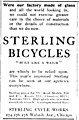 """STERLING BICYCLES"" ad from Ladies' Home Journal Vol.15 No.04 (March, 1898) (page 30 crop).jpg"