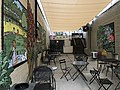 """""""Welcome to Charles Village"""" open space with mural (2019; C. Ryan Patterson and Rachel Valsing, artists), 3117 Saint Paul Street, Baltimore, MD 21218 (48978157976).jpg"""