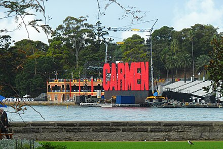Stage of Handa Opera on Sydney Harbour 2013 'I've looked at CARMEN from both sides now...but still somehow...^^^' - panoramio.jpg