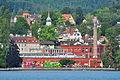"""'Rote Fabrik' in Zürich-Wollishofen, Ansicht vom ZSG-Motorschiff """"Wädenswil"""" 2012-07-30 09-45-12.JPG"""
