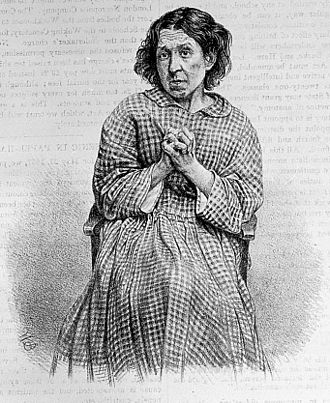 A picture of a woman with depression who was suicidal 'Suicidal melancholy' Wellcome L0022593 (cropped).jpg