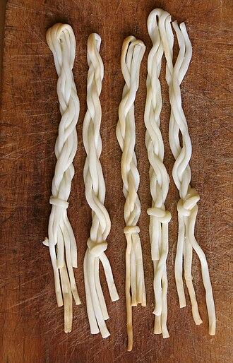 String cheese - Traditional Korbáčiky from Slovakia