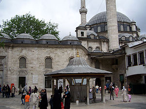 Sineperver Sultan - The tomb of Sinepervar Sultan at the Fountain (Şadırvan) Courtyard of  Eyüp Sultan Mosque in Eyüp, Istanbul