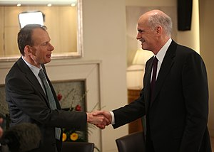 Andrew Marr - Andrew Marr (left) meeting Greek Prime Minister, George Papandreou in 2010