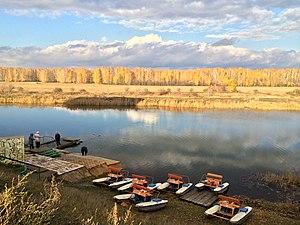 Lyubinsky District - River on the boundary of Lyubinsky District