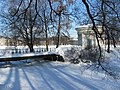 Лопухинский сад, февраль 2011. Протока мост..jpg