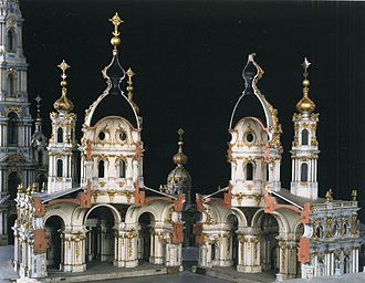 Elizabethan Baroque - Model of the Smolny Cathedral