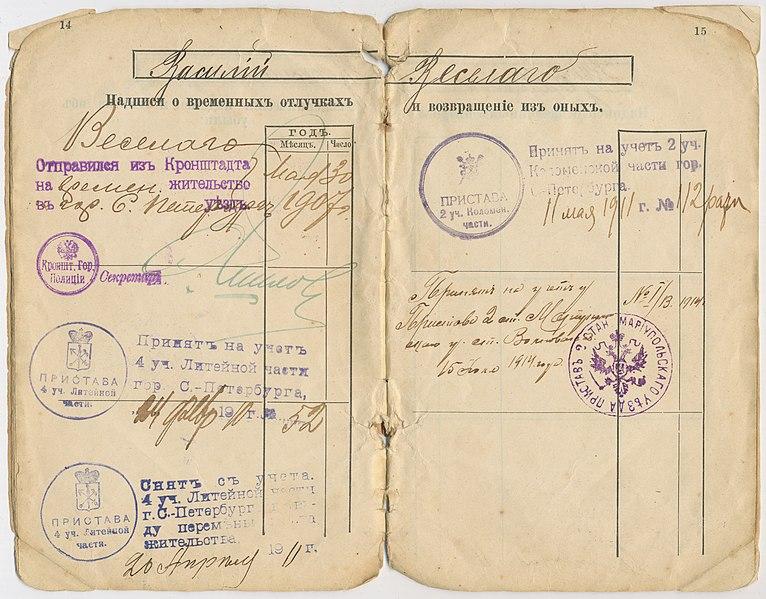 File:Ополченский билет № 6307 (1901 г.) Василия Веселаго.jpg