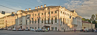 Stroganov family - The Stroganov Palace on Nevsky Avenue in St Petersburg was designed by Bartolomeo Rastrelli