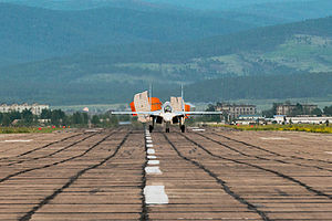 Domna (air base) - Su-30SM at Domna.