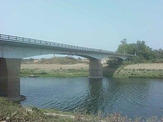 Palashipara - Dwijendralal Bridge over the Jalangi river, Palashipara