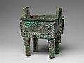 商 青銅方鼎-Ritual Rectangular Cauldron (Fangding) MET DP155118.jpg