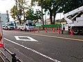 電柱の工事中 鶴舞公園付近.jpg