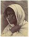 -Young Girl -?- with Cloak of Cloth Over Head, Sicily, Italy- MET DP114595.jpg