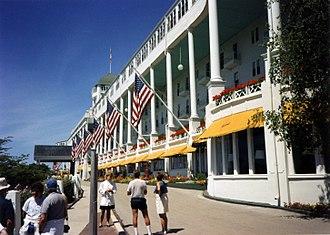 Grand Hotel (Mackinac Island) - Grand Hotel, Michigan, summer 1990