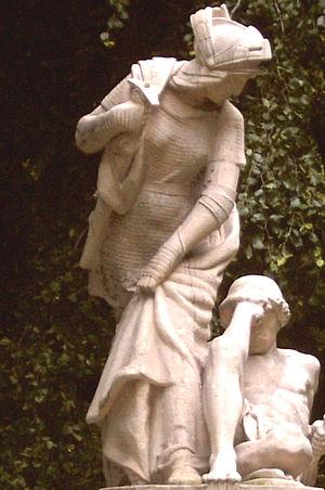 Grażyna (poem) - Grażyna marble statue based on poem by Adam Mickiewicz, Planty Park, Kraków