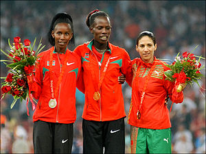 Athletics at the 2008 Summer Olympics – Women's 800 metres - Image: 080818 Hasna Benhassi (2801078172)