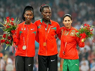 Athletics at the 2008 Summer Olympics – Women's 800 metres - Medal ceremony