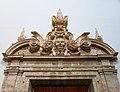 080 Església de Sant Miquel dels Reis (València), portal del claustre nord, timpà.jpg