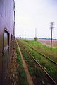1.5.1992r. Linia z Leszna do Glogowa, tor na Lipinke Glogowska.jpg