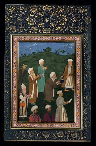 Abu al-Hasan (Mughal painter) - Image: 10 Abu'l Hasan Saʿdī presents a book of his poems, 1615, Walters Art Museum, Baltimor