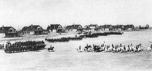 Fort Custer (Montana) - 10th Cavalry parade at Fort Custer