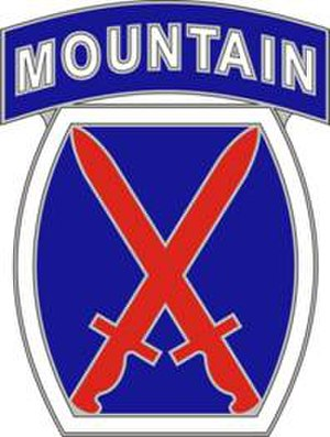 Division insignia of the United States Army - Image: 10th Mountain Division CSIB