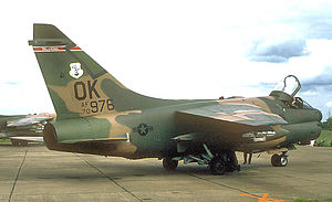 125th Fighter Squadron - 125th Tactical Fighter Squadron A-7D Corsair II 70-976, about 1981