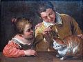 1590 Carracci Kinder necken Katze anagoria.JPG