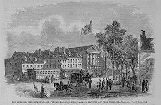 Richmond, Fredericksburg and Potomac Railroad - Image: 1865 RFP Rail Richmond