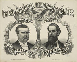 William Hayden English - Hancock–English campaign poster