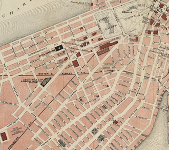 Columbus Avenue (Boston) - Image: 1883 Columbus Ave Walker map Boston