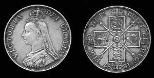 Golden Jubilee of Queen Victoria - Victoria's Golden Jubilee silver double florin, struck 1887