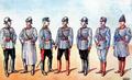 1916 - Armata Romaniei - Uniforme de ofiteri din primul Razboi Mondial.png