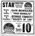 1916 Star Theatre advert Boston Daily Globe March5.png