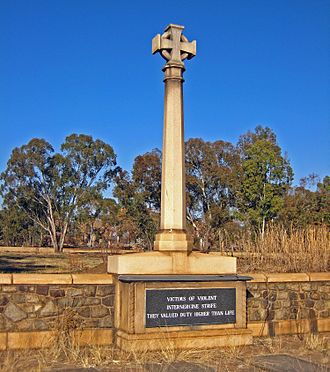 Rand Rebellion - Monument to officials and soldiers killed in the uprising