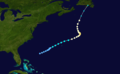 1923 Atlantic hurricane 2 track.png