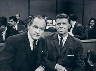 Robert Reed - Reed and E. G. Marshall in a publicity shot for The Defenders, 1961