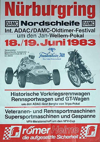 Oldtimer Festival - Poster of the 1st Oldtimer Festival 1983