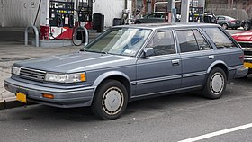 1988 Nissan Maxima GXE Wagon, front left.jpg