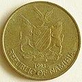 1993 Namibian 5 dollar obverse.jpg