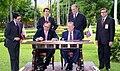 1994. Septiembre 6. Encuentro de Rafael Caldera con el presidente de Colombia, Ernesto Samper en La Casona.jpg