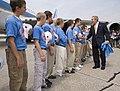 20060907 - George W. Bush congratulates members of the Columbus Northern Little League Team .jpg