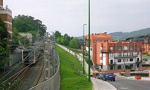 Neguri (Metro Bilbao) - Image: 2007 Getxo Neguri Aiboa